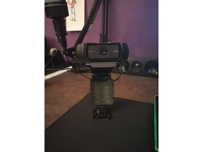 Logitech C920 Holder with Go Pro connection