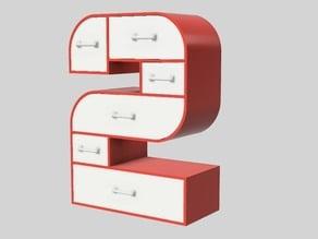 2-Frame Set of Drawers