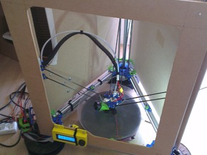 Kossel Alt - 20mm extrusion - 10mm smooth rods remix