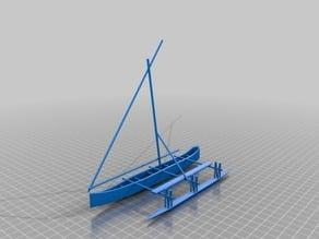 Proa sail boat