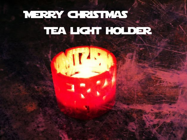 merry christmas tea light holder star wars font by takenby thingiverse - Merry Christmas Star Wars