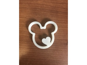 Mickey Mouse Heart Keychain