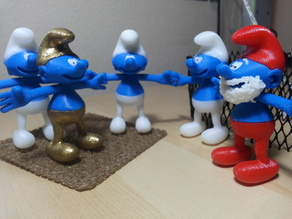 Smurf divided into parts for multicolor printing
