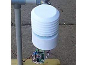 Radiation shield sensor mount/weather station controller