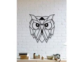 Owl Wall Sculpture 2D