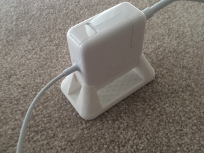 MacBook AC/power adapter stand