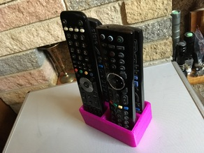 TV remote 4x (6x) holder/tidy/stand