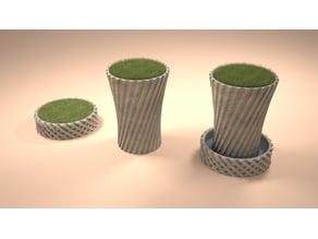 Round twisted vase