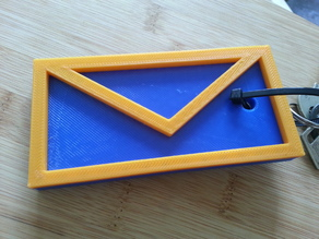 Letter keychain for your mailbox key!