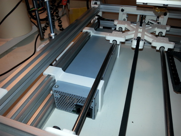 HP DPS-600PB PSU Bracket for Mendelmax 1.5 3 layer frame