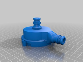 Washing machine pump, for fast coupling hoses