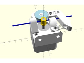Spring tensioned bowden extruder