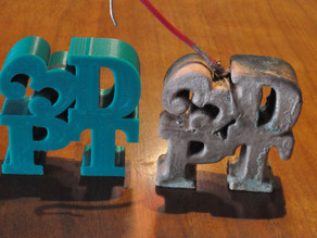 3d print coated with solid copper metal