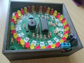 Pollin Roulette case enclosure with 9V battery holder