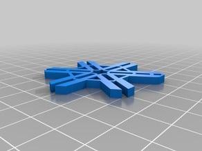 Hexa snowflake keychain