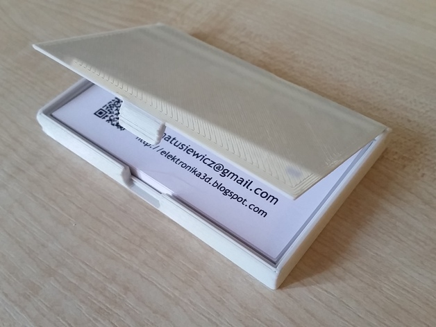 Business card case 90x51 mm by skriver thingiverse thingiview colourmoves