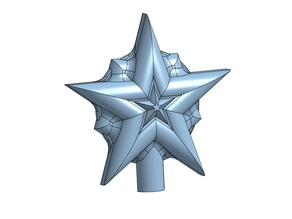 Christmas tree top star ornament