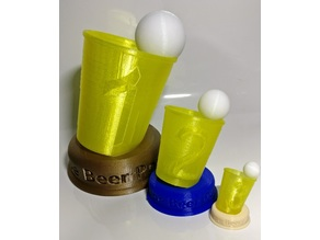 Beer Pong Cup / Trophy (3 Parts or single part)