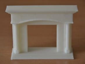 Little desktop fireplace
