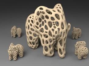 Elephant - Voronoi Style