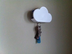 Cloud magnetic key shelf for car key fob