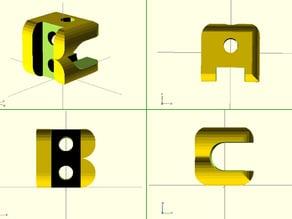 Customizable Monogram Cube