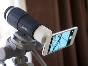 iPod touch to Carson monocular lens adaptor