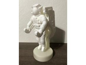 NASA Astronaut with MMU alternative stand