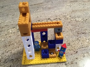 LEGO compatible Marble Run for 11mm Pachinko Balls - Starter Set