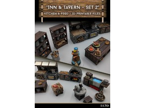Inn & Tavern Items - Set 2 - Kitchen and Food - 28mm gaming - Sample Items