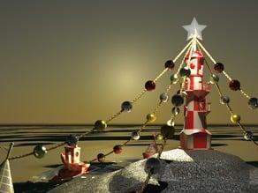 Christmas scene,Lighthouse -Buoy- 3DBenchy