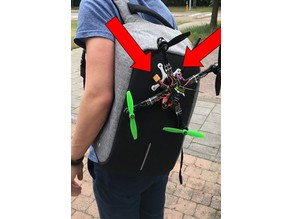 Drone backpack holder clamp - STL files