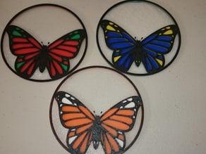 Butterfly (Danaus genutia)