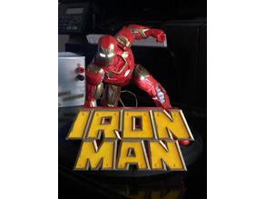 Iron Man Logo + Action Figure