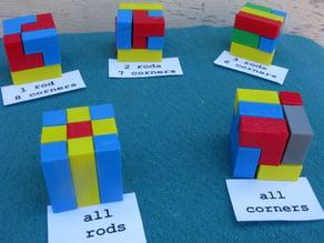 Nine Piece Cube Puzzles