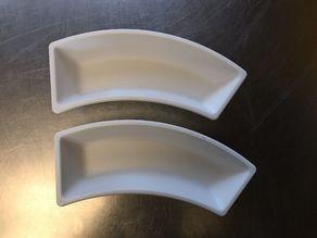 Jastrow illusion bowls, LessMore bowls.