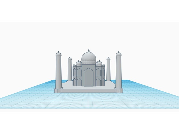 Taj Mahal (designed in tinkercad) by shivackt - Thingiverse