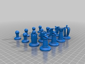 chess - full set pieces