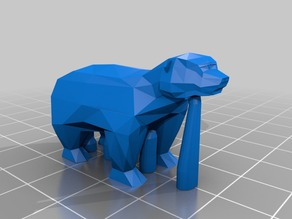 ThomasR's Low-Poly Bear (slightly modified version of original thing)