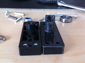 Velleman K8200 extended extruder base for flex pla