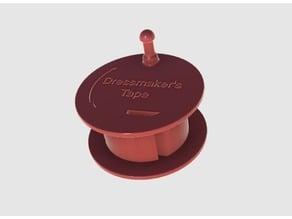 Dressmaker's tape spool