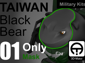Taiwan Black_bear Military [Only MASK]