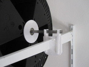 Filament spool mounting for 8mm rod on rack