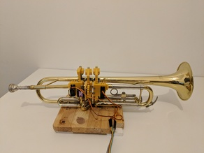 Trumpet-Playing Robot Finger Mechanism