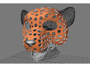 Fursuit- or puppet-head base - version 54 - snow leopard