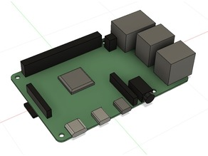 Raspberry Pi 4 (Dummy with Fusion360 Files)