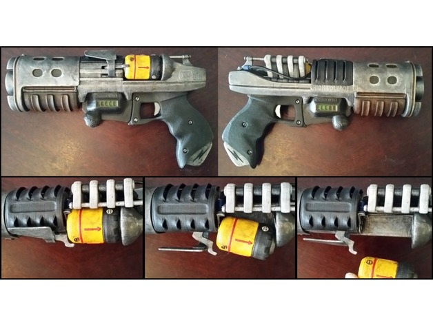 Fallout Glock 86 Plasma Pistol By 3nikhey Made Printable