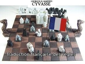 Cyvasse (unofficial game), traduction des règles en français