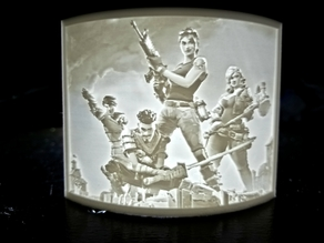 Fortnite Lithophane