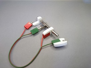 Clip on contact for fischertechnik cables
